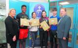 Happy students in Carrick Community School