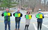 New York's Leitrim contingent turn out in force to support the 50 miles in January challenge
