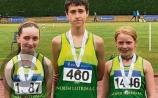 Gold for Niamh as Alannah, Sara & Darragh medal