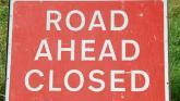 Road closure in Leitrim
