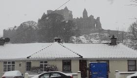 Winter wonderland beneath the Rock of Cashel, Co. Tipperary