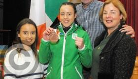 Manorhamilton out in force to welcome Youth Olympic hero Déarbhla - GALLERY