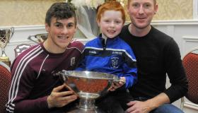 Galway star Shane Walsh presents medals to winning St. Mary's Kiltoghert teams