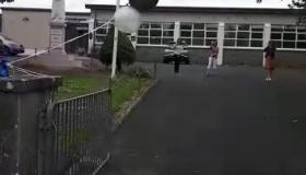 WATCH  Ballinamore students mark the end of national school with a special drive-by graduation
