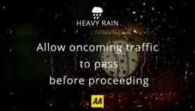 Top tips for driving in heavy rain