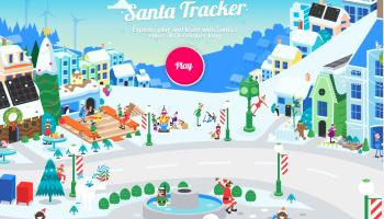 Keep track of Santa on his travels around the world this evening!