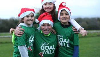 Irish running legend Eamonn Coghlan appeals to people of Leitrim to run a mile for GOAL this Christmas