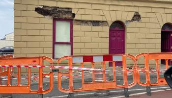 Diversions in place in Mohill as structural engineers and Council assess damaged building