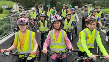 Over 50from St Clare's Primary School take part in Bike Week cycle