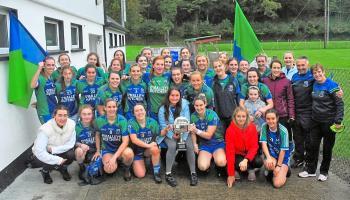 St Joseph's celebrate upset win over Ballinamore Sean O'Heslins in Gotham Dry Wall LGFA Senior B Final - GALLERY