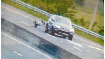 Incredible! 4X4 clocked at almost twice the speed limit with trailer