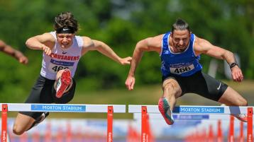 Famous five for Gerard O'Donnell as he claims fifth National 110m Hurdle title in a row