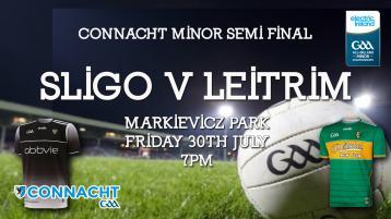 Online option available for fans as Leitrim v Sligo Connacht Minor Semi-Final clash sold out
