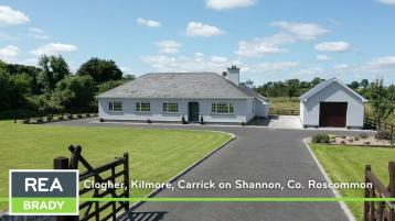 Video: Superb four bedroom bungalow in a scenic location at Kilmore