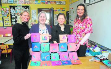 Úna Burke supports Tarmon NS and rural schools for their holistic approach