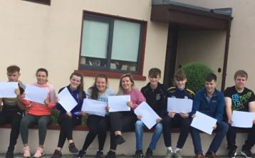 Joyous scenes in Carrigallen as students collect Leaving Cert results