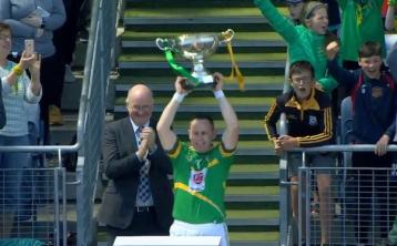 Watch   Leitrim captain Declan Molloy delivers memorable speech after Lory Meagher Cup final victory