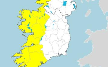 Status Yellow weather alert issued for 10 counties