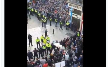 National: Trouble flares following anti-lockdown protest - arrests are made