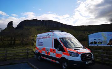 Sligo Leitrim Mountain Rescue Team come to the aid of walker at Eagles Rock