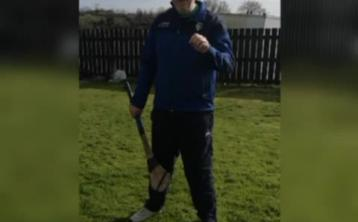 WATCH: Leitrim's hurlers answer the call for unique puck around that spans half the country