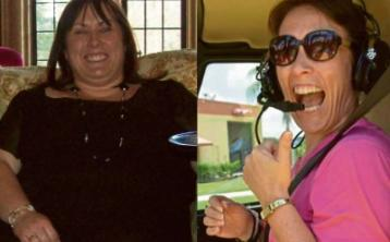 Life is a thrill ride for Mary, now 7 stone lighter