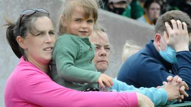 Fans enjoy the action at Leitrim Ladies Lidl NFL Division 4 Semi-Final in Galway - GALLERY