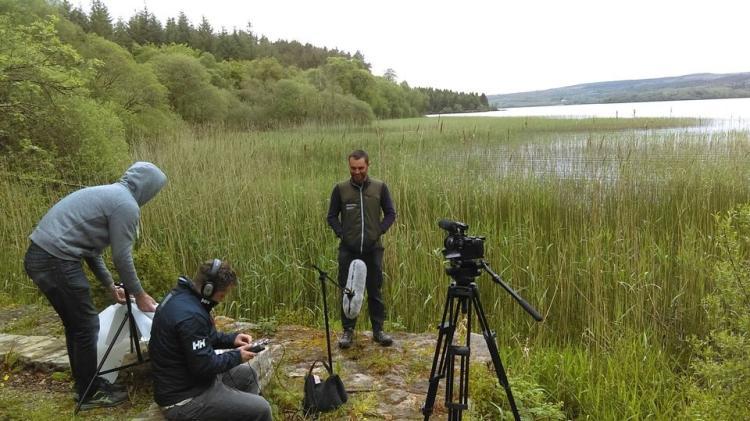 Filming in Glenfarne for exciting new AV project