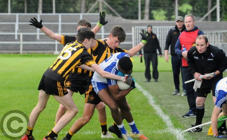 All the action, spills and thrills as Mac Diarmada Gaels draw U17 Final with St Mary's - GALLERY