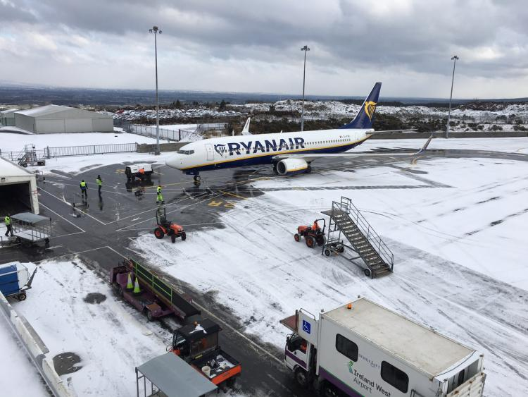 Storm Emma puts paid to holidaymakers' plans at Bristol Airport