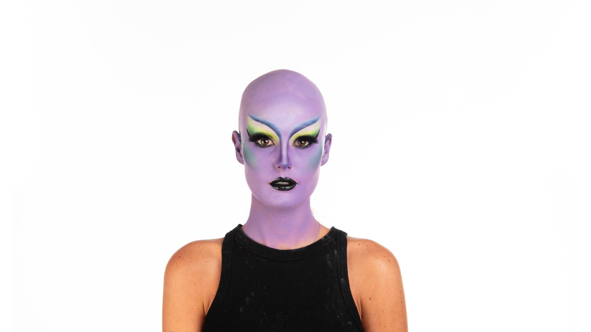 Megan's finished drag look